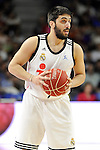 Real Madrid´s Facundo Campazzo during 2014-15 Liga Endesa match between Real Madrid and Unicaja at Palacio de los Deportes stadium in Madrid, Spain. April 30, 2015. (ALTERPHOTOS/Luis Fernandez)