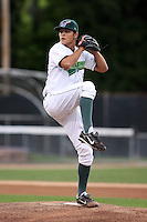 September 9 2008:  Starting pitcher Dan Jennings of the Jamestown Jammers, Class-A affiliate of the Florida Marlins, during a game at Russell Diethrick Park in Jamestown, NY.  Photo by:  Mike Janes/Four Seam Images
