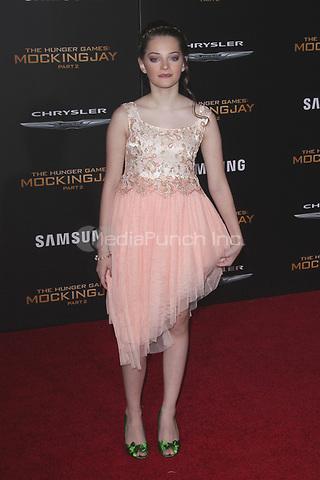 "LOS ANGELES, CA - NOVEMBER 16: Erika Bierman at the Premiere Of ""The Hunger Games: Mockingjay - Part 2"" At Microsoft Theater On November 16, 2015. Credit: mpi21/MediaPunch"