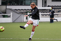 (Left to right)  during a female soccer game between Oud Heverlee Leuven and Femina White Star Woluwe  on the 5 th matchday of the 2020 - 2021 season of Belgian Womens Super League , Sunday 18 th of October 2020  in Heverlee , Belgium . PHOTO SPORTPIX.BE | SPP | SEVIL OKTEM