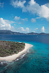 British Virgin Islands, Sandy Cay, also known as Sandy Spit, Caribbean Sea, Central America, Uninhabited island, palm tree and white, gloriously white beaches,.