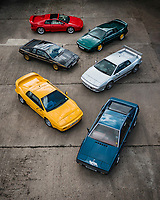 BNPS.co.uk (01202) 558833. <br /> Pic: TheMarket/BNPS<br /> <br /> A British motor enthusiast is selling his epic collection of Lotus Esprit sports cars for over £500,000.<br /> <br /> The iconic vehicles made by the British marque between 1976 to 2004 have belonged to the unnamed collector who loved the sleek design of them.