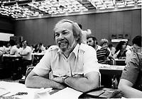 Rodrigue Dube<br /> au congres du Parti Quebecois, 20 juin 1984.<br /> <br /> PHOTO : Agence Quebec Presse - Pierre Roussel
