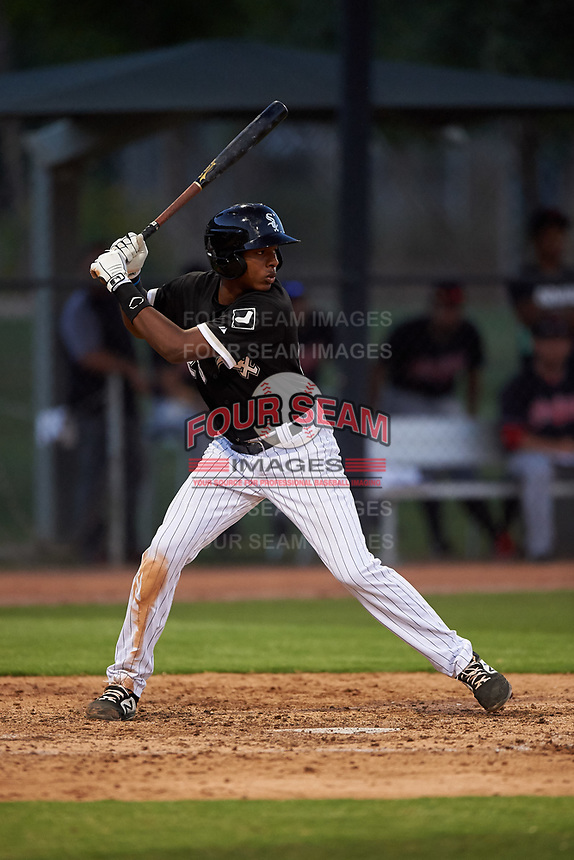 AZL White Sox DJ Gladney (25) at bat during an Arizona League game against the AZL Indians Blue on July 2, 2019 at Camelback Ranch in Glendale, Arizona. The AZL Indians Blue defeated the AZL White Sox 10-8. (Zachary Lucy/Four Seam Images)