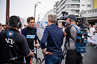 Belgian National Cycling coach Sven Vanthourenhout interviewed pre-race<br /> <br /> Men Elite Individual Time Trial <br /> from Knokke-Heist to Bruges (43.3 km)<br /> <br /> UCI Road World Championships - Flanders Belgium 2021<br /> <br /> ©kramon
