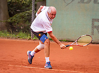 Hilversum, The Netherlands,  August 17, 2021,  Tulip Tennis Center, NKS, National Senior Tennis Championships, Men's 65+    Frans de Haan (NED)<br /> Photo: Tennisimages/Henk Koster