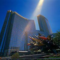 Las Vegas, Nevada, USA - Aria Resort and Casino along The Strip (Las Vegas Boulevard)