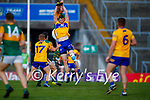 David Moran, Kerry, Darren O Neill, Clare, during the Munster Football Championship game between Kerry and Clare at Fitzgerald Stadium, Killarney on Saturday.