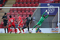 Devante Rodney of Port Vale goes close during Leyton Orient vs Port Vale, Sky Bet EFL League 2 Football at The Breyer Group Stadium on 20th February 2021