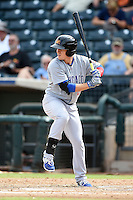 Mesa Solar Sox outfielder Bijan Rademacher (28) during an Arizona Fall League game against the Peoria Javelinas on October 15, 2014 at Surprise Stadium in Surprise, Arizona.  Mesa defeated Peoria 5-2.  (Mike Janes/Four Seam Images)