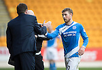 St Johnstone v Partick Thistle…29.10.16..  McDiarmid Park   SPFL<br />David Wohterspoon is subbed by Tommy Wright<br />Picture by Graeme Hart.<br />Copyright Perthshire Picture Agency<br />Tel: 01738 623350  Mobile: 07990 594431