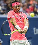 August  29, 2017:  Rafael Nadal (ESP) defeated Dusan Lajovic (SRB) in the first two sets 7-6, 6-2, at the US Open being played at Billy Jean King Ntional Tennis Center in Flushing, Queens, New York. Leslie Billman/EQ