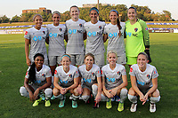 Piscataway, NJ - Sunday, September 24, 2017: Pregame activities before a regular season National Women's Soccer League (NWSL) match between Sky Blue FC and the North Carolina Courage at Yurcak Field.