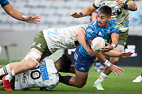 14th March 2021; Eden Park, Auckland, New Zealand;  Blues Rieko Ioane  - during the Super Rugby Aotearoa rugby match between the Blues and the Highlanders held at Eden Park, Auckland, New Zealand.