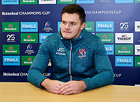 Monday 2nd December 2019   Ulster Rugby Match Briefing<br /> <br /> Jacob Stockdale at the Match Briefing held at Kingspan Stadium, Belfast ahead of the Heineken Champions Cup Round 3 clash against Harlequins at Kingspan Stadium, Belfast, on Saturday 6th December 2019. Photo by John Dickson / DICKSONDIGITAL