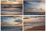 View of the Atlantic Ocean from Coast Guard Beach, Cape Cod National Seashore, Eastham, MA, USA.  <br /> <br /> Four images to be displayed together. Buy each image separately or contact us to price all four.
