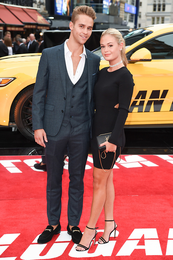 """Julius Cowdrey and Ella Willis<br /> attending the premiere of """"Logan Lucky"""" at the Vue West End, Leicester Square, London. <br /> <br /> <br /> ©Ash Knotek  D3295  21/08/2017"""