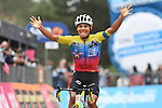 Jonathan Caicedo (ECU) EF Pro Cycling wins solo on the slopes of Mount Etna during Stage 3 of the 103rd edition of the Giro d'Italia 2020 running 150km from Enna to Etna (Linguaglossa-Piano Provenzana), Sicily, Italy. 5th October 2020.  <br /> Picture: LaPresse/Gian Mattia D'Alberto   Cyclefile<br /> <br /> All photos usage must carry mandatory copyright credit (© Cyclefile   LaPresse/Gian Mattia D'Alberto)