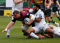 20th March 2021; Twickenham Stoop, London, England; English Premiership Rugby, Harlequins versus Gloucester; Harlequins, Gloucester; Wilco Louw of Harlequins being stopped by Jamal Ford-Robinson of Gloucester