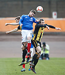 Kyle Hutton rises to win the ball