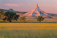 Chimney Rock along the Oregon Trail<br />