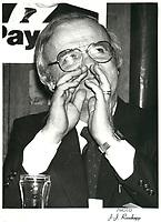 Roch LaSalle, 1980 (date exacte inconnue)<br /> <br /> PHOTO :   Agence Quebec Presse