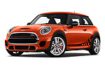 Stock pictures of low aggressive front three quarter view of 2019 MINI Hardtop-2-Door John-Cooper-Works-Iconic 5 Door Hatchback Low Aggressive