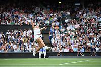 9th July 2021, Wimbledon, SW London, England; Wimbledon Tennis Championships, day 9;  Ashleigh Barty (Aus)