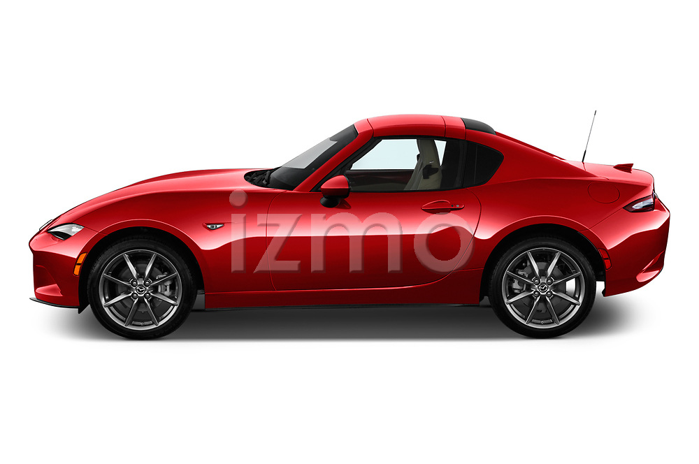 Car Driver side profile view of a 2019 Mazda MX-5 Selection 2 Door Targa Side View
