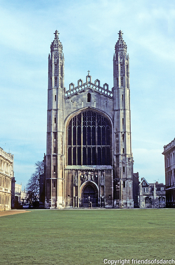 Cambridge: King's Chapel--elevation. Photo '82.