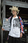 Protesters picketing outside the 02 Academy in Bristol last night where John Lydon and PIL were playing. Pil are due to play the Heineken Music Festival in Tel-Aviv in Israel in August which has prompted protests across the country..