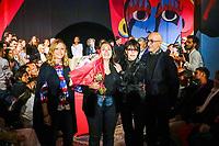 GRAND PRIX ACCESSOIRES SWAROVSKI : MARINA CHEDEL AVEC LA CHANTEUSE DANI - REMISE DE PRIX AU 32E FESTIVAL INTERNATIONAL DE MODE ET DE PHOTOGRAPHIE 2017 A HYERES