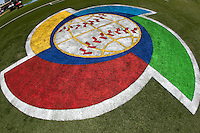 7 March 2009: The World Baseball Classic is seen on the field of Hiram Bithorn Stadium during the 2009 World Baseball Classic Pool D match at Hiram Bithorn Stadium in San Juan, Puerto Rico. Netherlands pulled off a huge upset in their World Baseball Classic opener with a 3-2 victory over Dominican Republic.