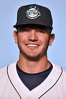 Asheville Tourists infielder Forrest Wall (7) on April 7, 2015 in Asheville, North Carolina. (Tony Farlow/Four Seam Images)