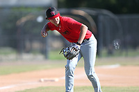 Caleb Cali (71) of Montverde Academy High School in Montverde, Florida during the Under Armour Baseball Factory National Showcase, Florida, presented by Baseball Factory on June 13, 2018 the Joe DiMaggio Sports Complex in Clearwater, Florida.  (Nathan Ray/Four Seam Images)