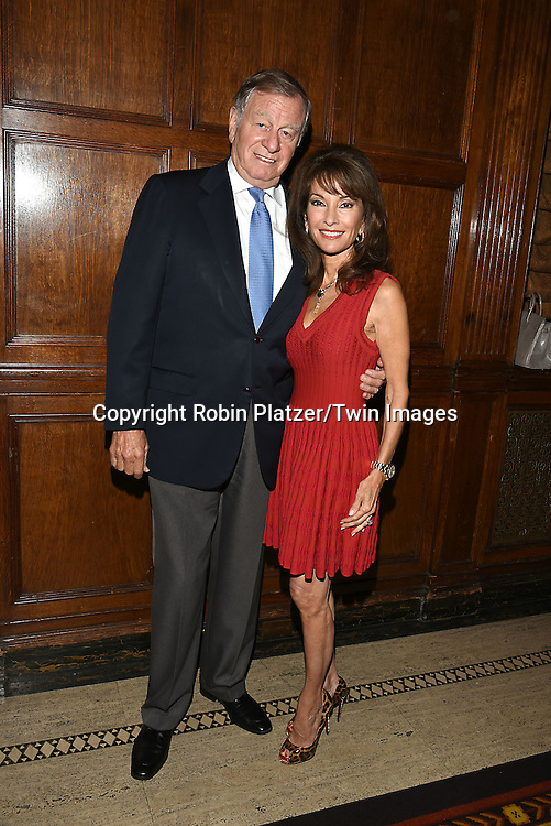 honoree Susan Lucci and husband Helmet Huber attend the Library of American Broadcasting  Annual Giants of Broadcasting Luncheon on October 6, 2016 at Gotham Hall in New York City. <br /> <br /> photo by Robin Platzer/Twin Images<br />  <br /> phone number 212-935-0770