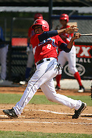 Rafelin Lorenzo (aka Rafaelin Guzman) participates in the Dominican Prospect League showcase at the New York Yankees academy on January 19,2013 in Boca Chica, Dominican Republic.
