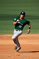 Daytona Tortugas second baseman Brantley Bell (13) running the bases during the first game of a doubleheader against the Clearwater Threshers on July 25, 2017 at Spectrum Field in Clearwater, Florida.  Daytona defeated Clearwater 4-1.  (Mike Janes/Four Seam Images)