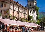 Schweiz, Tessin, Ascona am Lago Maggiore: auf der See-Promenade reihen sich Cafes und Restaurants aneinander | Switzerland, Ticino, Ascona at Lago Maggiore: cafes and restaurants at the lakeside promenade