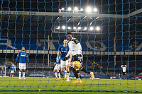 14th February 2021, Doddison Park, Liverpool, England;  Fulhams Josh Maja Front scores his second goal during the Premier League match between Everton and Fulham at Goodison Park in Liverpool