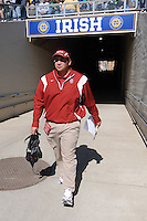 South Bend, IN - OCTOBER 4:  Recruiting assistant Jordan Paopao of the Stanford Cardinal during Stanford's 28-21 loss against the Notre Dame Fighting Irish on October 4, 2008 at Notre Dame Stadium in South Bend, Indiana.