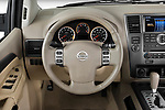Car pictures of steering wheel view of a 2010 Nissan Armada SE 5 Door SUV