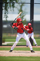 GCL Nationals Mason Doolittle (16) at bat during a Gulf Coast League game against the GCL Astros on August 9, 2019 at FITTEAM Ballpark of the Palm Beaches training complex in Palm Beach, Florida.  GCL Nationals defeated the GCL Astros 8-2.  (Mike Janes/Four Seam Images)