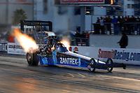 """Jan 20, 2007; Las Vegas, NV, USA; NHRA Top Fuel driver David Grubnic during preseason testing at """"The Strip"""" at Las Vegas Motor Speedway in Las Vegas, NV. Mandatory Credit: Mark J. Rebilas"""