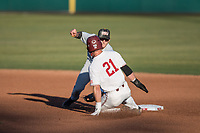 STANFORD, CA - MAY 27: Tim Tawa during a game between Oregon State University and Stanford Baseball at Sunken Diamond on May 27, 2021 in Stanford, California.