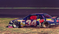 Rodney Combs encounters problems in the Atlanta Journal 500 at Atlanta International Raceway in Hampton, GA, November 1988.  (Photo by Brian Cleary/www.bcpix.com)