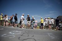fans awaiting the riders up the Col du Tourmalet (HC/2115m/17km/7.3%)<br /> <br /> st11: Pau - Cauterets (188km)<br /> 2015 Tour de France