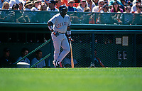 SAN FRANCISCO, CA:  Tony Gwynn of the San Diego Padres waits in the on deck circle during a game against the San Francisco Giants at Candlestick Park in San Francisco, California on July 1, 1995. (Photo by Brad Mangin)