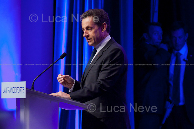 """Nicolas Sarkozy, Former President of the French Republic.<br /> <br /> For more pictures on this event click here: <a href=""""http://bit.ly/NvGlVS""""> http://bit.ly/NvGlVS</a>"""