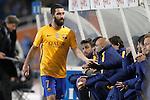 FC Barcelona's Arda Turan during La Liga match. April 9,2016. (ALTERPHOTOS/Acero)